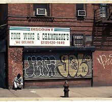 Liquor Store in NYC - Kodachrome Postcard  by Reinvention