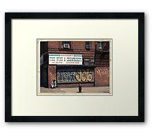 Liquor Store in NYC - Kodachrome Postcard  Framed Print