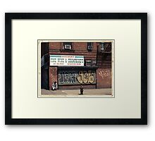 Liquor Store in NYC - Kodachrome Postcard  Framed Print