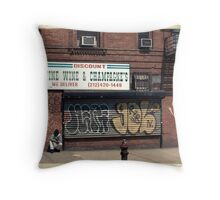 Liquor Store in NYC - Kodachrome Postcard  Throw Pillow