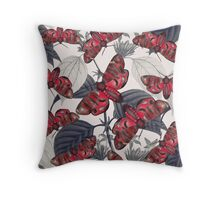 moth and botany 2 Throw Pillow