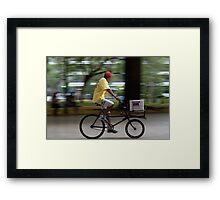 Icecream salesman Framed Print