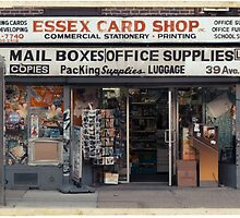 Essex Card Shop in NYC - Kodachrome Postcard  by Reinvention