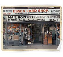 Essex Card Shop in NYC - Kodachrome Postcard  Poster