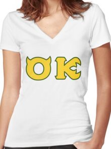Monsters U: Oozma Kappa Women's Fitted V-Neck T-Shirt
