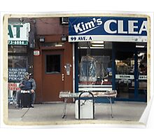 Kim's Cleaning, Avenue A, NYC - Kodachrome Postcard Poster
