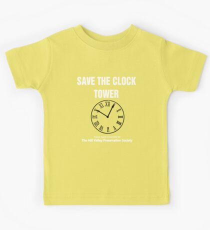 Save the Clock Tower (Back to the Future Print) Kids Tee