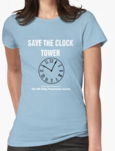 Save the Clock Tower (Back to the Future Print) Womens Fitted T-Shirt