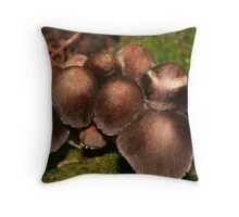 Little Brown Mushrooms* Throw Pillow