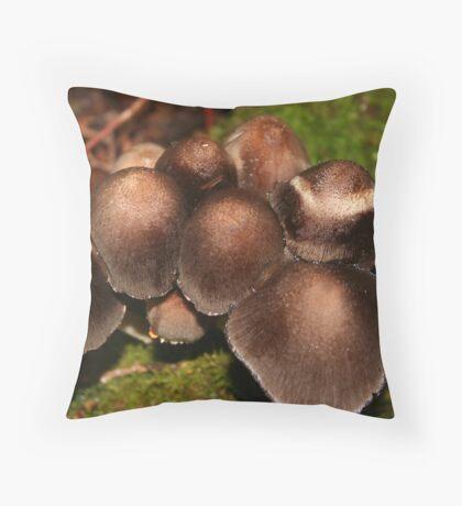 Little Brown Mushrooms* Throw Pillow