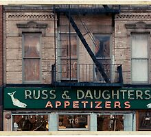 Russ & Daughters Appetizers in the Lower East Side - Kodachrome Postcard by Reinvention