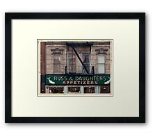 Russ & Daughters Appetizers in the Lower East Side - Kodachrome Postcard Framed Print