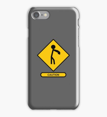 Caution: Zombies iPhone Case/Skin