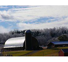 Frozen Farms Photographic Print