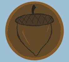 The Hobbit- Bronze Acorn Button Kids Tee