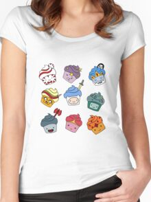 Adventurous Cupcakes Women's Fitted Scoop T-Shirt