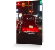 Saturday Night Cruiser Greeting Card