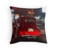Saturday Night Cruiser Throw Pillow