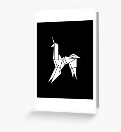 BLADERUNNER ORIGAMI UNICORN Greeting Card