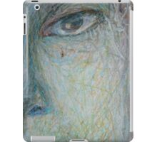 Faces - Close up 1 - Portrait In Black And White iPad Case/Skin