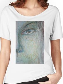 Faces - Close up 1 - Portrait In Black And White Women's Relaxed Fit T-Shirt