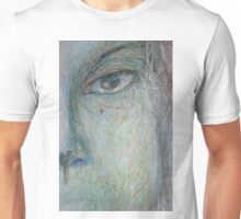 Faces - Close up 1 - Portrait In Black And White Unisex T-Shirt