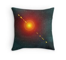 Cosmic Flare Throw Pillow