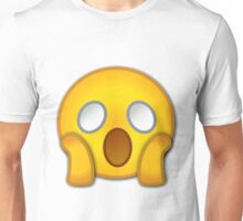 shocked emoji Unisex T-Shirt