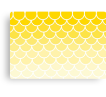Ombre Fish Scales In Lemons Canvas Print