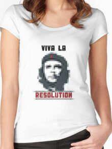 VIVA LA RESOLUTION Women's Fitted Scoop T-Shirt