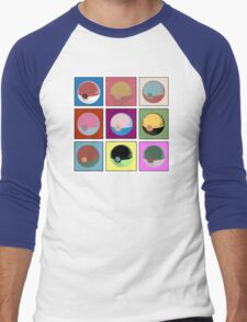 POKEBALL x9 Men's Baseball ¾ T-Shirt