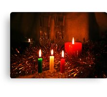 Candlelight and Wine Canvas Print