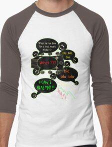 Loud music ticket cartoon Men's Baseball ¾ T-Shirt