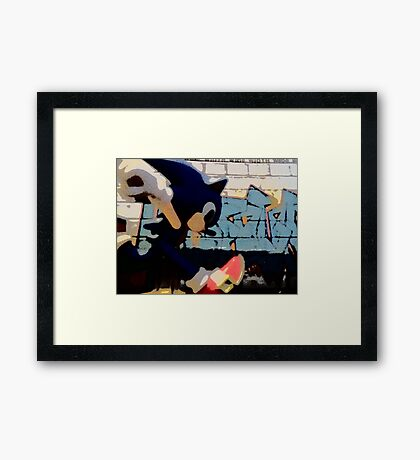 Sonic in the streets Framed Print