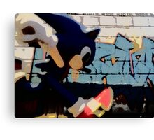 Sonic in the streets Canvas Print