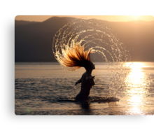 Carefree in the sun and sea Metal Print