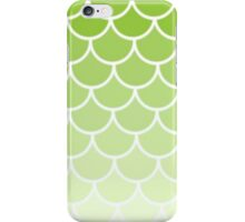 Ombre Fish Scale In Lime iPhone Case/Skin