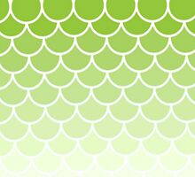 Ombre Fish Scale In Lime by Misty Lemons