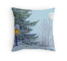 Eight Inches of Fresh Snow Throw Pillow