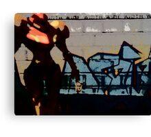 Samus in the streets Canvas Print