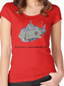 The Heart Pirate's Ship Women's Fitted Scoop T-Shirt