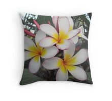 Frangapani Group Bunch Throw Pillow