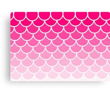 Ombre Fish Scale In Strawberry Canvas Print