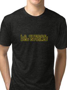 La Guerre des Etoiles (Star Wars classic logo in French) Tri-blend T-Shirt