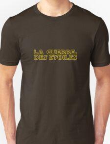 La Guerre des Etoiles (Star Wars classic logo in French) Unisex T-Shirt