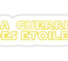 La Guerre des Etoiles (Star Wars classic logo in French) Sticker