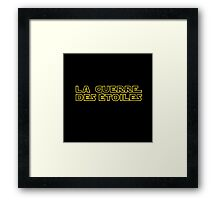 La Guerre des Etoiles (Star Wars classic logo in French) Framed Print