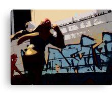 Captain Falcon in the streets Canvas Print