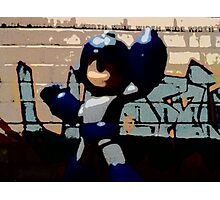 Mega man in the streets Photographic Print