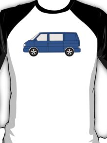 VW T4 Surf Bus Blue T Shirt T-Shirt
